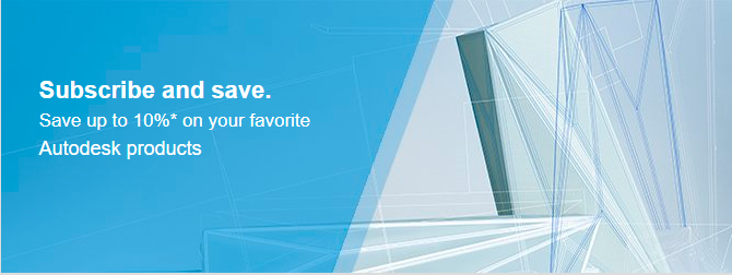 Save up to 10% on the latest Autodesk Software