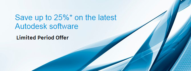 Save up to 25% on the latest Autodesk Software